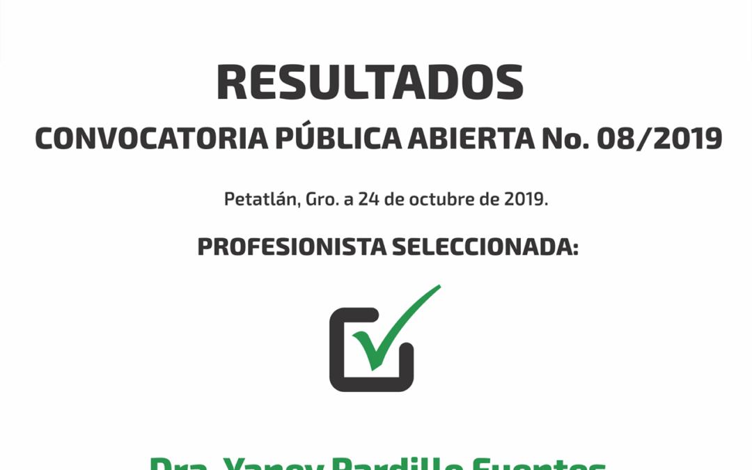 Resultados – 08/2019