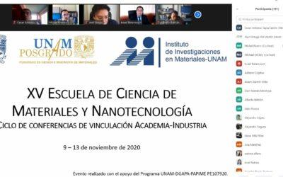 XV Escuela de Ciencias de Materiales y Nanotecnología