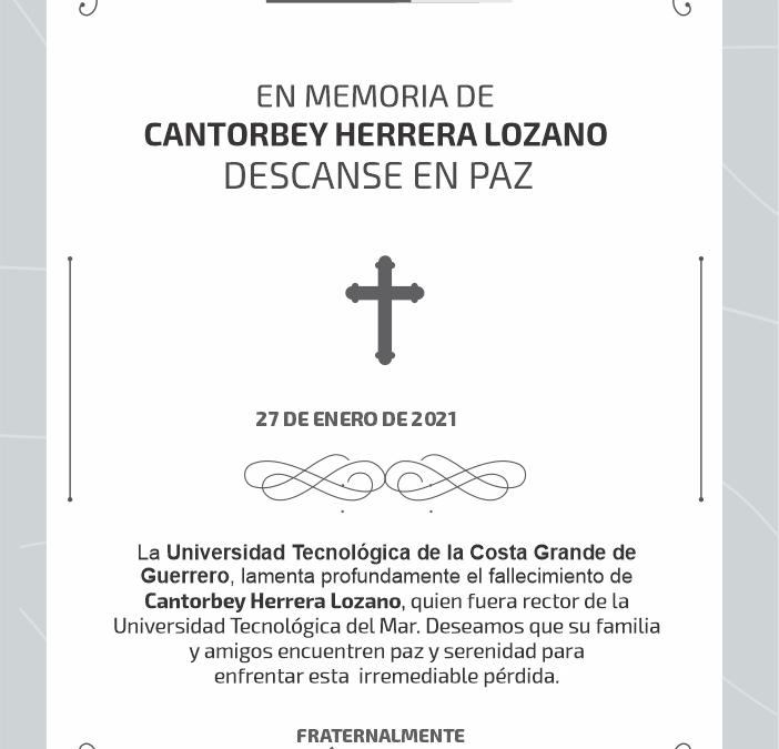 Descanse en paz, Cantorbey Herrera Lozano