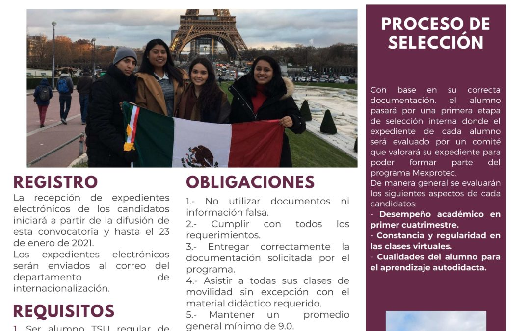 Convocatoria MEXPROTEC 2021 – 2023