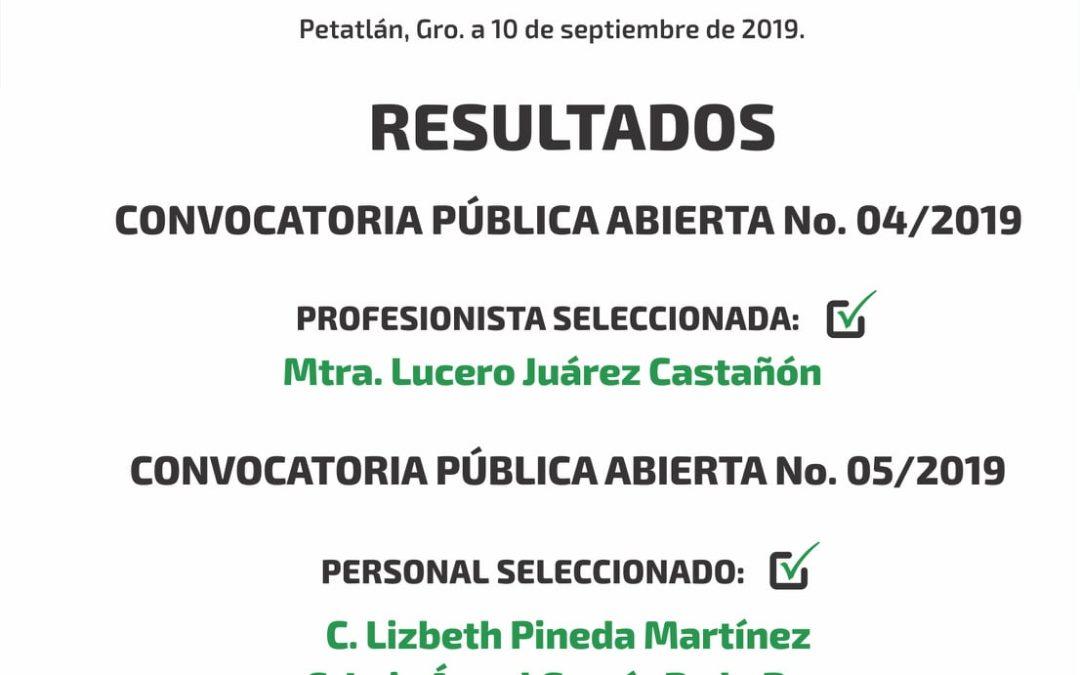 RESULTADOS 05/2019