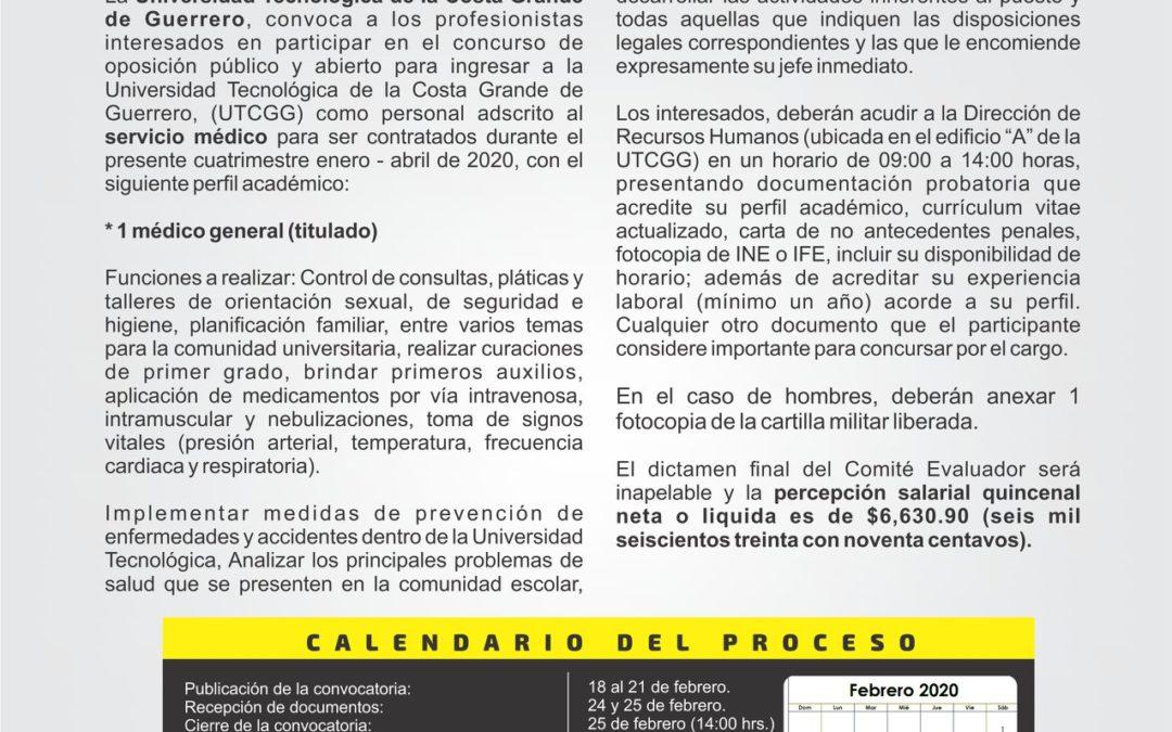 Convocatorias 01/2020 – 02/2020