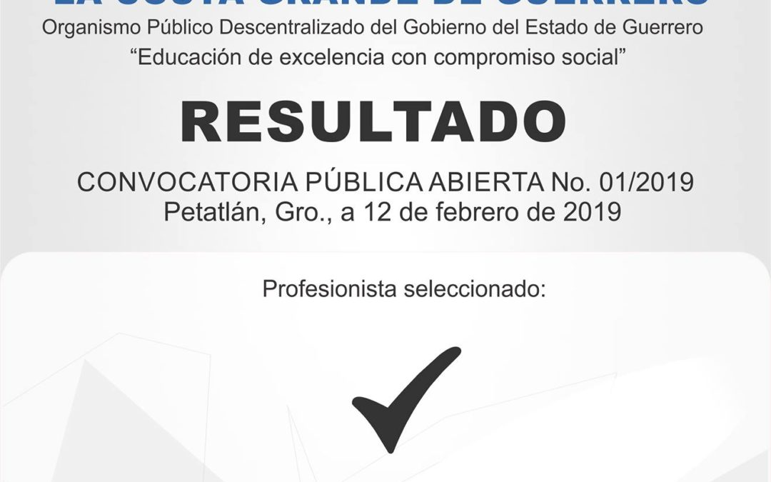 RESULTADOS 01/2019