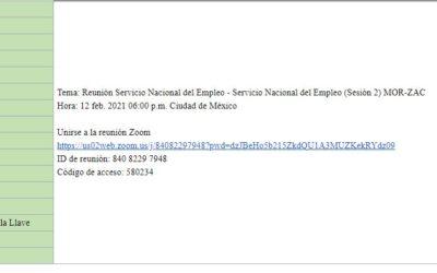 Sesión informativa – Servicio Nacional de Empleo