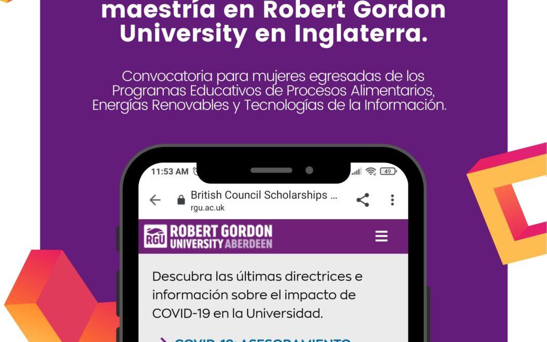 Estudia una maestría en Robert Gordon University