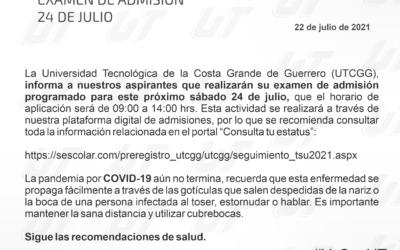 Examen de admisión – 24 de julio