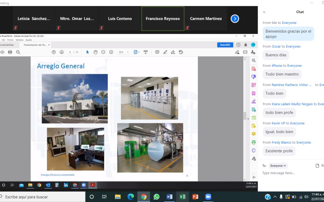 Plática virtual con personal de la empresa Lechera Bové